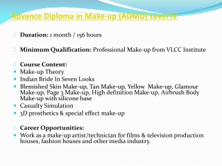 VLCC Advance Diploma in Cosmetic Makeup