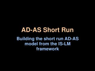 AD-AS Short Run