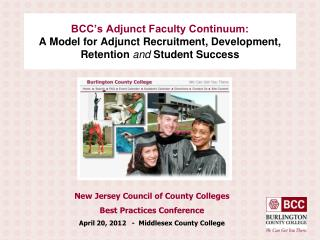 BCC's Adjunct Faculty Continuum: A Model for Adjunct Recruitment, Development, Retention  and  Student Success