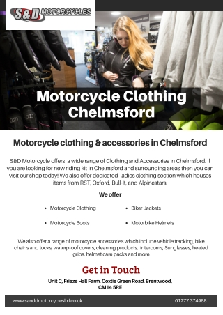Motorcycle Clothing Chelmsford