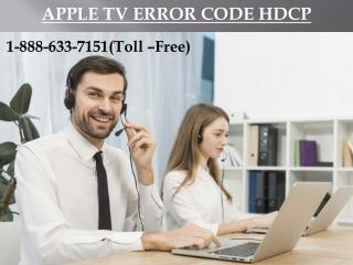 Steps To Fix Apple TV Error Code HDCP