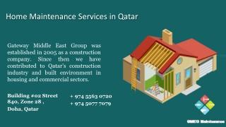 Online Home Services   Home Maintenance Services   Home Maintenance Services in Qatar