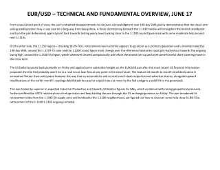 EUR/USD – TECHNICAL AND FUNDAMENTAL OVERVIEW, JUNE 17