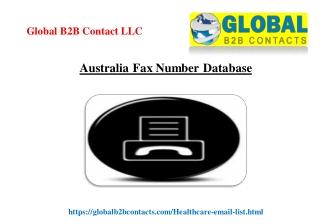 Australia Fax Number Database