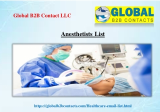 Anesthetists List