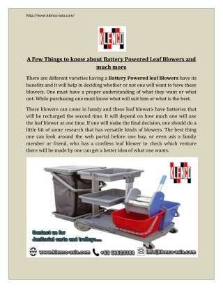 Janitorial Carts and Trolley
