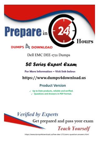 Verified EMC DEE-1721 Study Material - DEE-1721 Exam Dumps Dumps4download.us