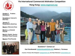 Vis International Commercial Arbitration Competition Hong Kong: cisgmoot