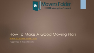 How to make a good moving plan?