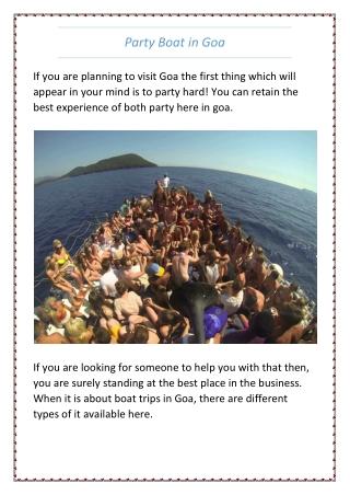 Party Boat Goa