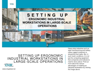 Setting Up Ergonomic Industrial Workstations in Large-Scale Operations