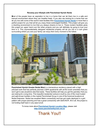 Get A Luxury Home with Panchsheel Hynish Noida