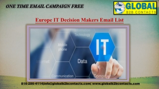 Europe IT Decision Makers EmailList