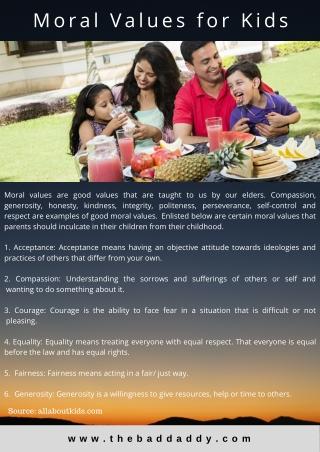 Moral values for Kids