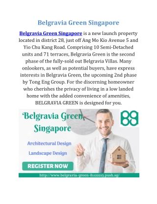 Belgravia Green Singapore
