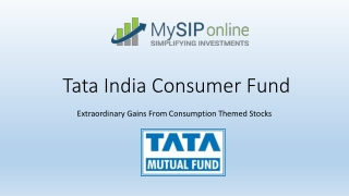 Tata India Consumer Fund Overview