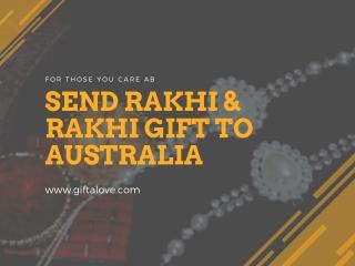 Send rakhi and rakhi gifts to Australia - giftalove.com