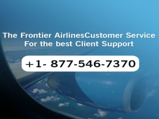 1877-546-7370 Frontier airlines customer service