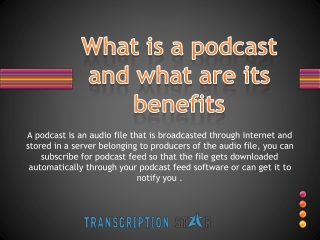 podcasts benefits