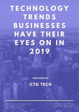 5 Technology Trends Businesses Have Their Eyes On in 2019