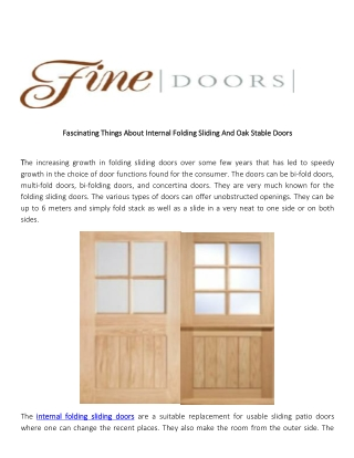 Fascinating Things About Internal Folding Sliding And Oak Stable Door
