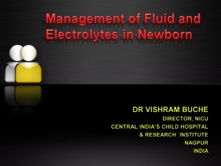 fluid and electrolytes in new born