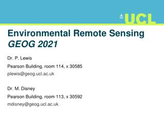 Environmental Remote Sensing  GEOG 2021
