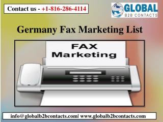 Germany Fax Marketing List