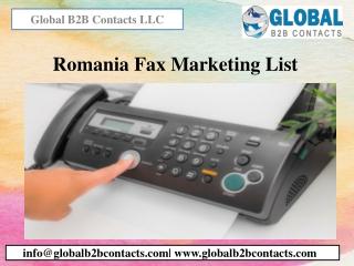 Romania Fax Marketing List