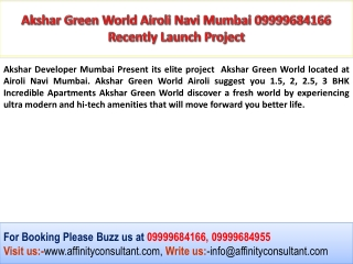 Akshar Green World, Akshar Green World Airoli, Akshar Green
