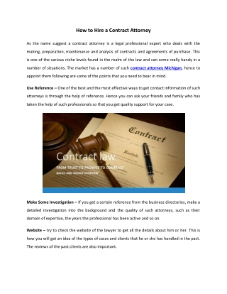 How to hire a contract attorney