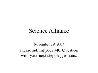 Science Alliance
