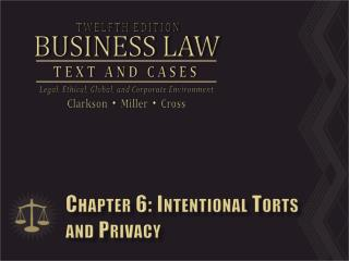 Chapter 6: Intentional Torts and Privacy