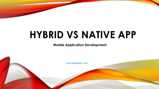 Hybrid Mobile Application vs Native Mobile Application Development