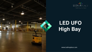 Replace MH lights with UFO High Bay LED Lights at Indoor Higher Ceiling