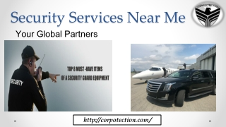 Security Services Near Me