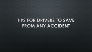 Safety tips for drivers by Amrani Chauffeurs