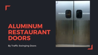 Aluminum Restaurant Doors