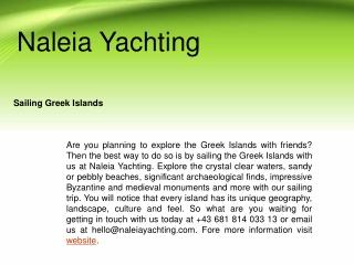 Best Sailing in Greek Islands
