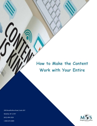 How to Make the Content Work with Your Entire Marketing Strategy