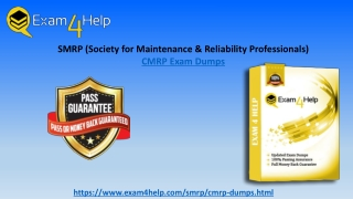 2019 Valid SMRP CMRP Dumps Provided By Exam4Help.com Money Back Grantee