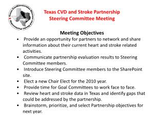 Texas CVD and Stroke Partnership Steering Committee Meeting