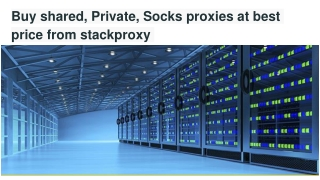 Get shared, Private, Socks proxies at best price from stackproxy