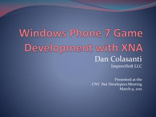 Windows Phone 7 Game Development with XNA