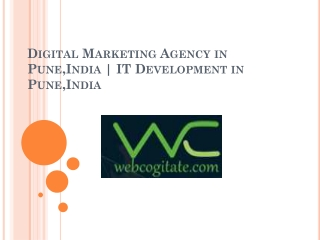 Digital Marketing Agency in Pune,India