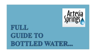 Local Bottled Water Company Corpus Christi - Artesia Springs