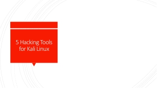 Hacking Tools for Kali Linux