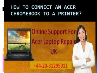 How To Connect An Acer Chromebook To A Printer?