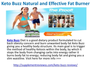 Keto Buzz Diet Pills Price, Cost, Side Effects and Resutls