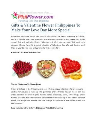 send valentines gift to philippines